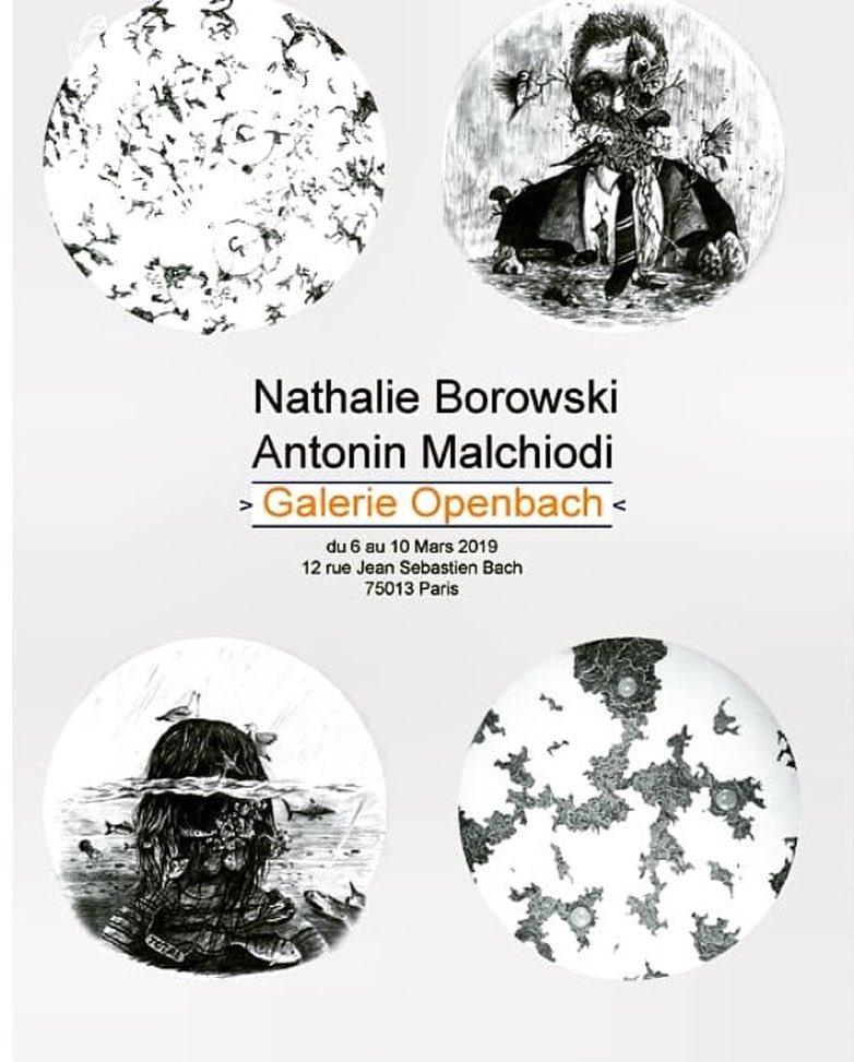 Exposition avec Nathalie Borowski / Galerie Openbach / Paris